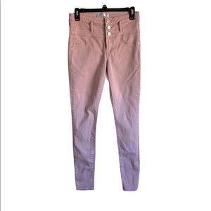 No Boundaries Pink High Waist Skinny Jeans  Size 9